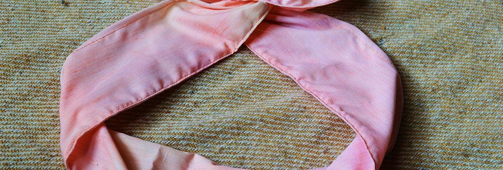 peach and pink wire headband