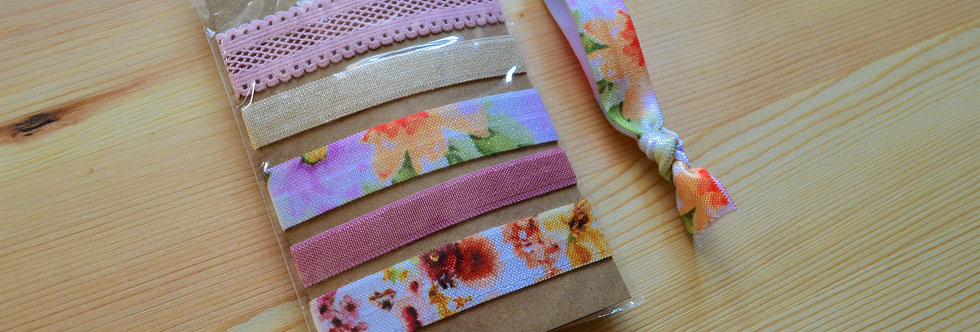 spring blossom hair ties