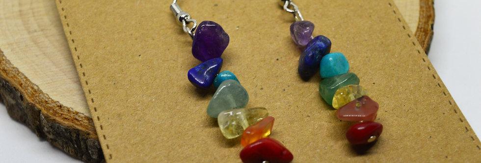Chakra drop earrings