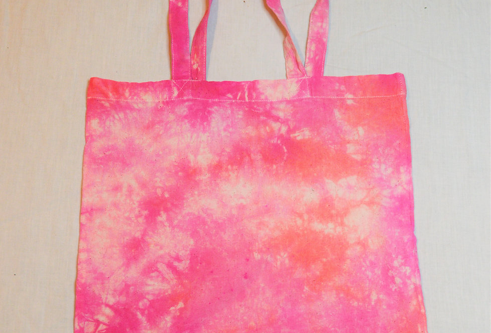 pink and orange tote