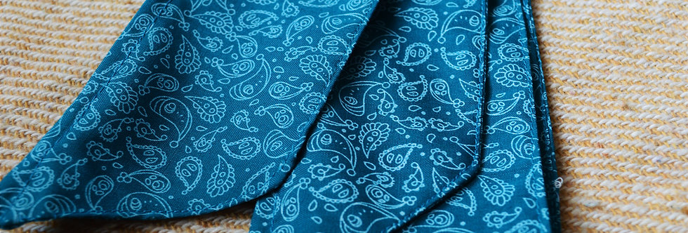 blue paisley wire headband