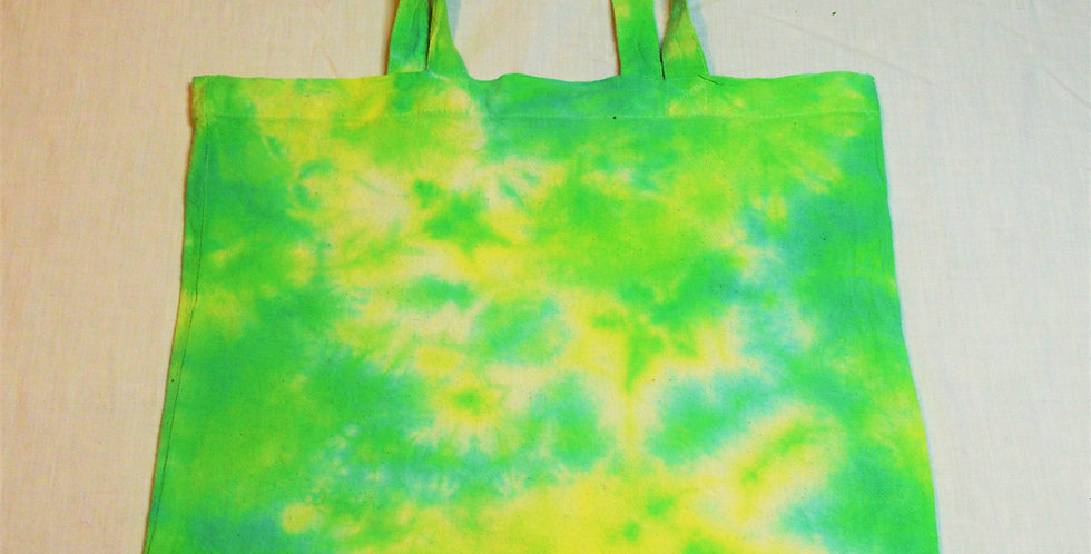green and yellow tote