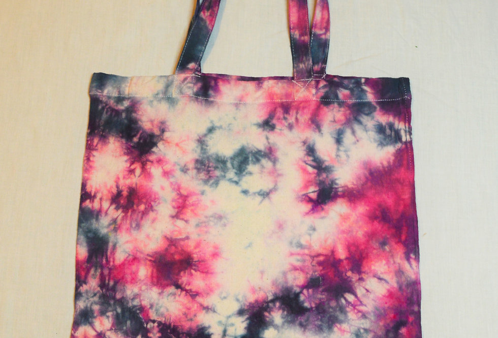 pink and black tote