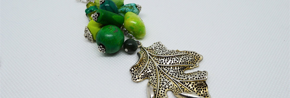 summer leaves keychain