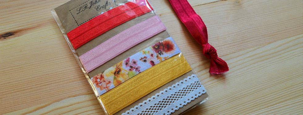 spring garden hair ties