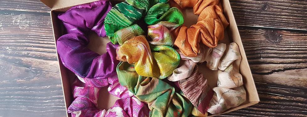 Sari silk Scrunchie box