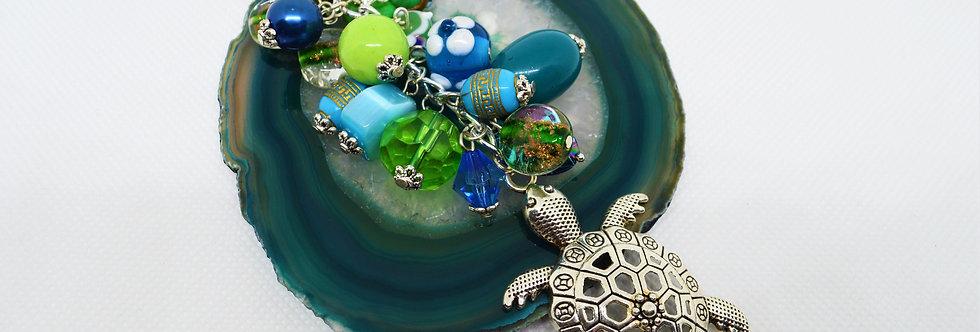 Ocean turtle bagcharm