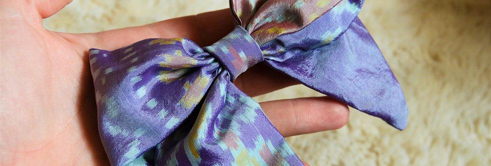 lavender sari hair bow