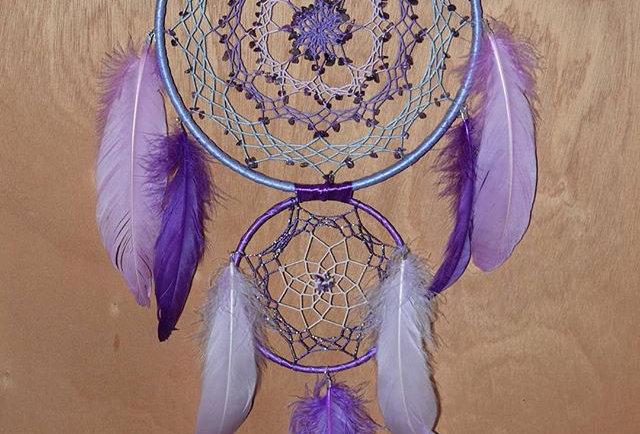 purple amethyst dreamcatcher