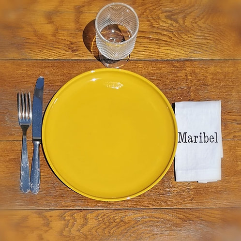 Serviette de table prénom personnalisable