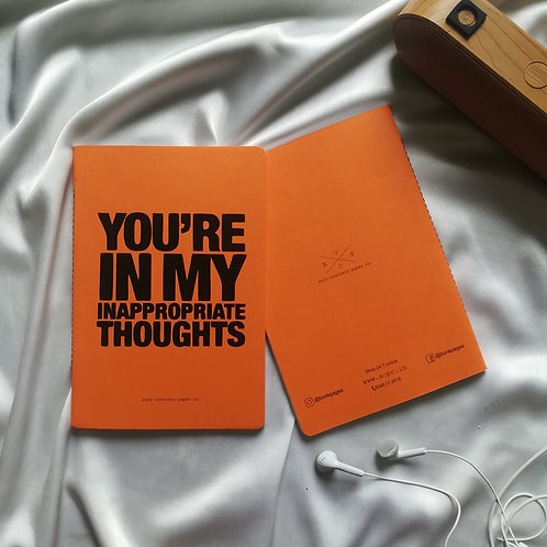 """Anti-ordinary Notepad """"inappropriate thoughts"""""""
