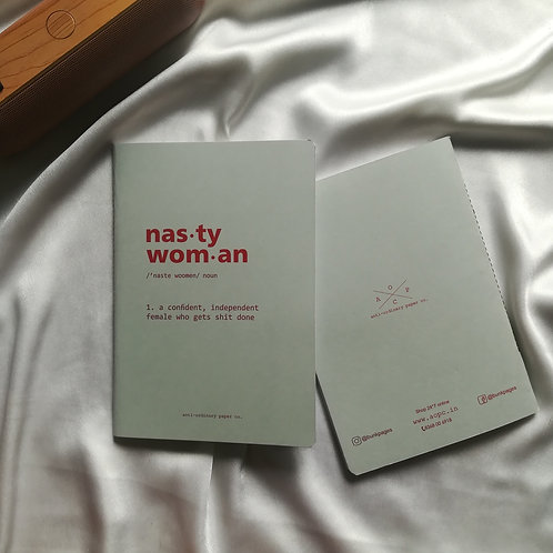 """Anti-ordinary Notepad """"nasty woman"""""""