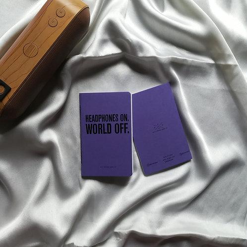 """Anti-ordinary Pocket Diary """"World Off"""""""