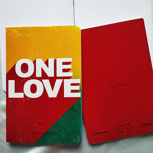 "Anti-ordinary ""One love"" Notepad"