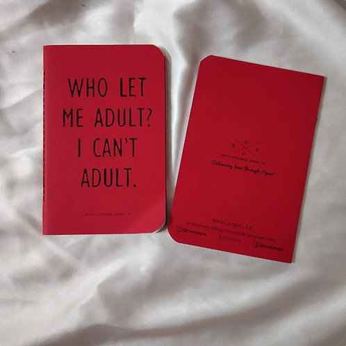 Can't Adult Pocket Diary