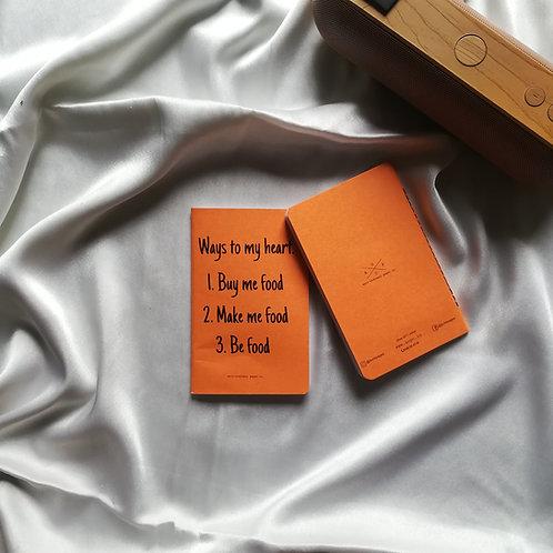"""Anti-ordinary Pocket Diary """"ways to my heart"""""""