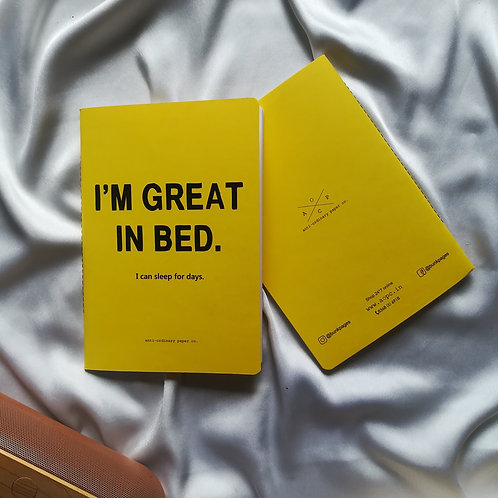 "Anti-ordinary Notepad ""great in bed"""
