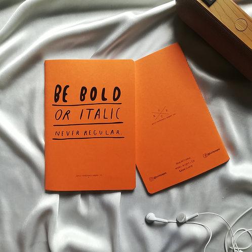 """Anti-ordinary Notepad """"bold or italic"""""""