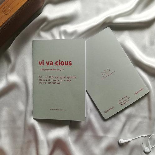 "Anti-ordinary Notepad ""vi-va-cious"""