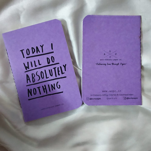 Absolutely Nothing Pocket Diary