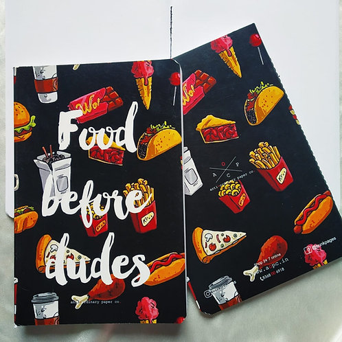 "Anti-ordinary "" Food-Dude"" Notepad"