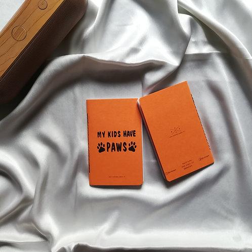 """Anti-ordinary Pocket Diary """"paws"""""""