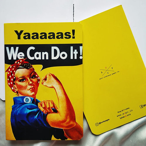 "Anti-ordinary ""Yes We Can"" Notepad"