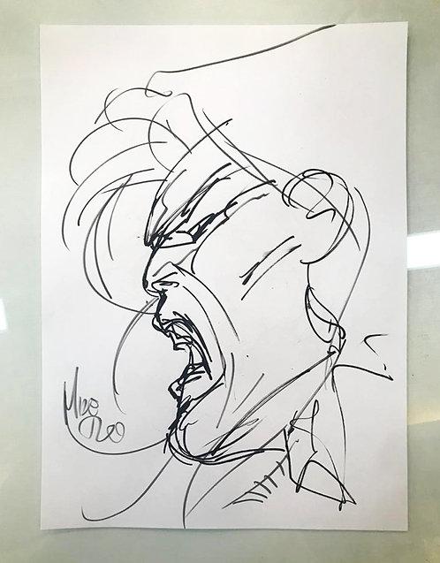 Berserker Unbound – Head Sketch Concept Art