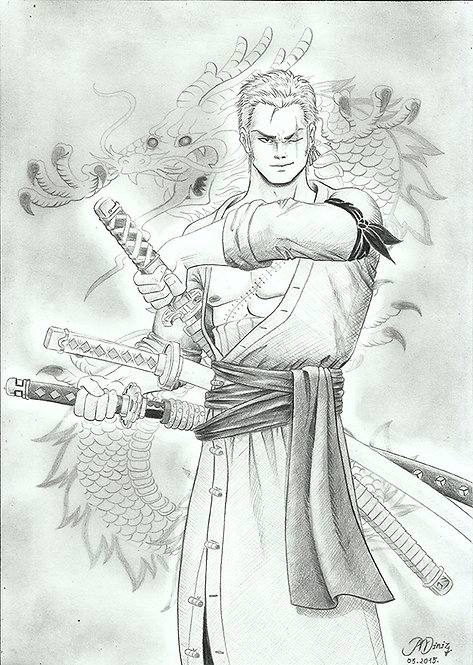 Fan Art - Zoro [BW]