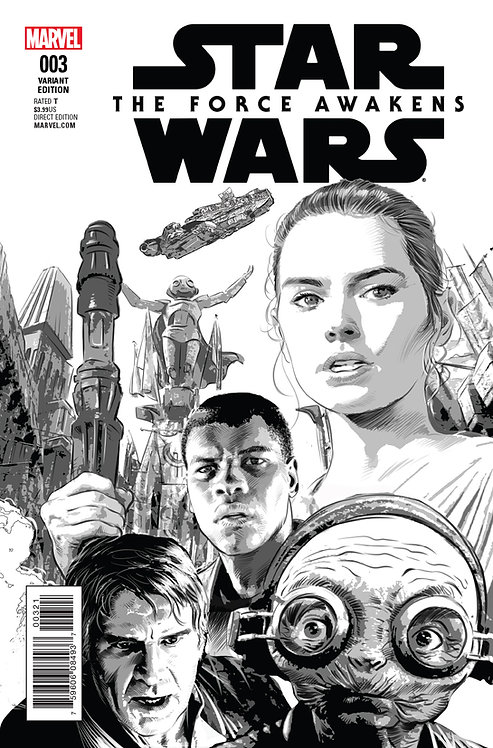 Star Wars - The Force Awakens [variant cover by Mike Deodto Jr.]