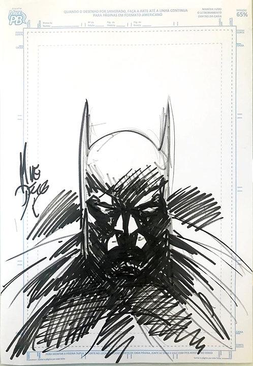 Batman - bust sketch (Original Art by Mike Deodato Jr)
