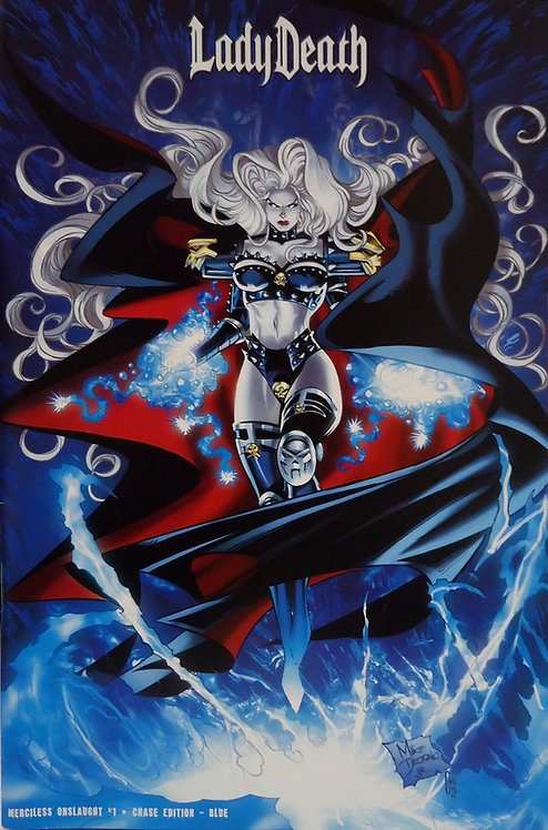 Lady Death - Merciless Onslaught #1 - Mike Deodato Jr. Blue Cover