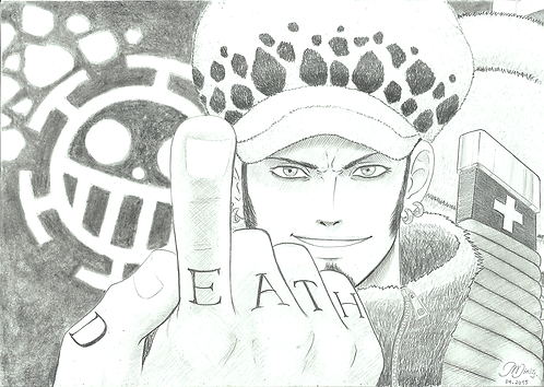 Fan Art - Trafalgar Law [BW]