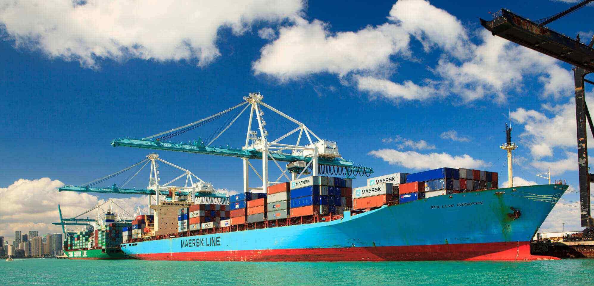 Maersk-Vessel-in-Harbor