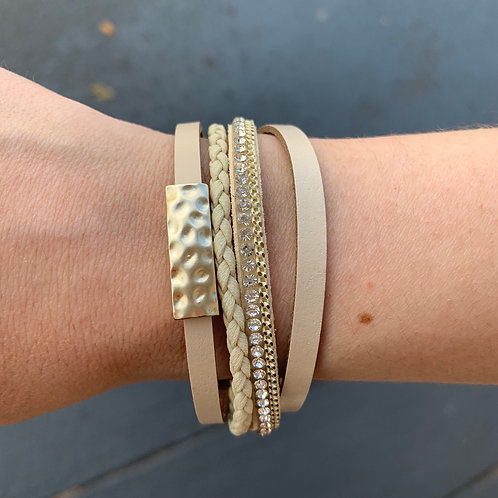 Magnet Gold Bar Bracelet
