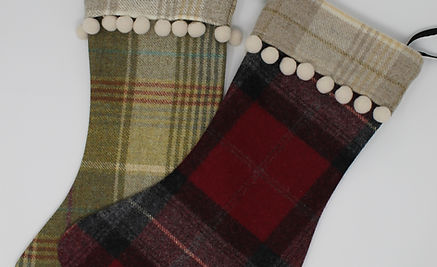 Tweed Christmas Stockings