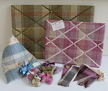 Noticeboards and tweed gifts in Abraham Moon Tweed