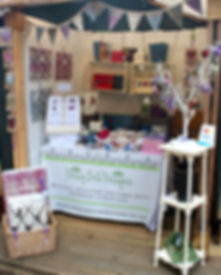 Daisy Belle Designs stall at the Edinburgh Fringe West End Fair in Edinburgh August 2014