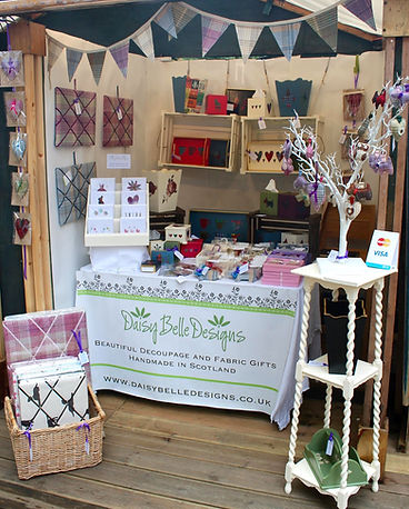 Daisy Belle Designs stall at the Edinburgh Fringe West End Fair in Edinburgh August 2014