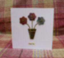 Handmade greeting cards with tweed designs