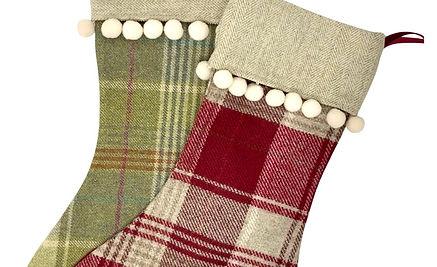 Tweed Christmas Stocking