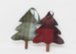 Handmade Tweed Christmas Tree Decoration