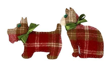 Tweed Lavender Bags, Scottie Dog or Cat