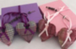 Lavender Bags in tweed, gift boxed