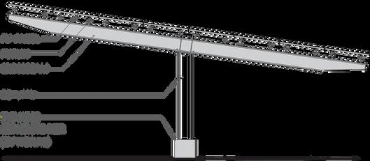 Double Cantilever  solar carport