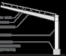 Single Cantilever solar carport