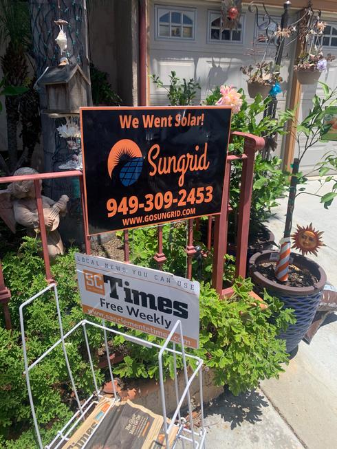 sungrid solar sign