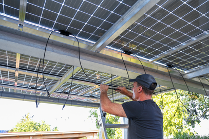 SunGrid Solar carport installation