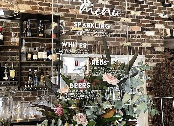 Wedding Bar/Menu Signs