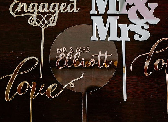 Acrylic Cake Toppers & Accessories